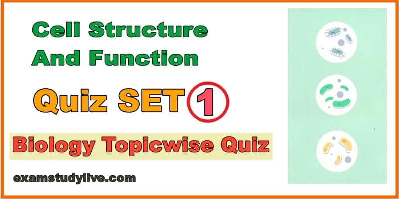 Quiz On Cell Structure And Function